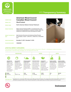 Transparency Summary American Wood Council Canadian Wood Council Wood Products