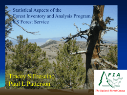 Tracey S Frescino Paul L Patterson Statistical Aspects of the