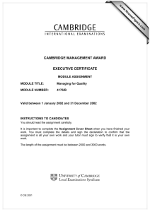 CAMBRIDGE MANAGEMENT AWARD EXECUTIVE CERTIFICATE www.XtremePapers.com