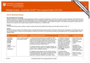 cie coursework training handbook 0522