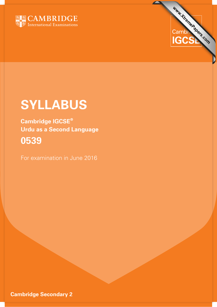 Syllabus 0539 cambridge igcse urdu as a second language spiritdancerdesigns Gallery