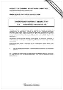 MARK SCHEME for the 2005 question paper  www.XtremePapers.com
