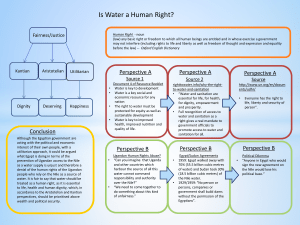 Is Water a Human Right? Fairness/Justice