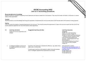 IGCSE Accounting 0452 Unit no 4: Accounting procedures  www.XtremePapers.com