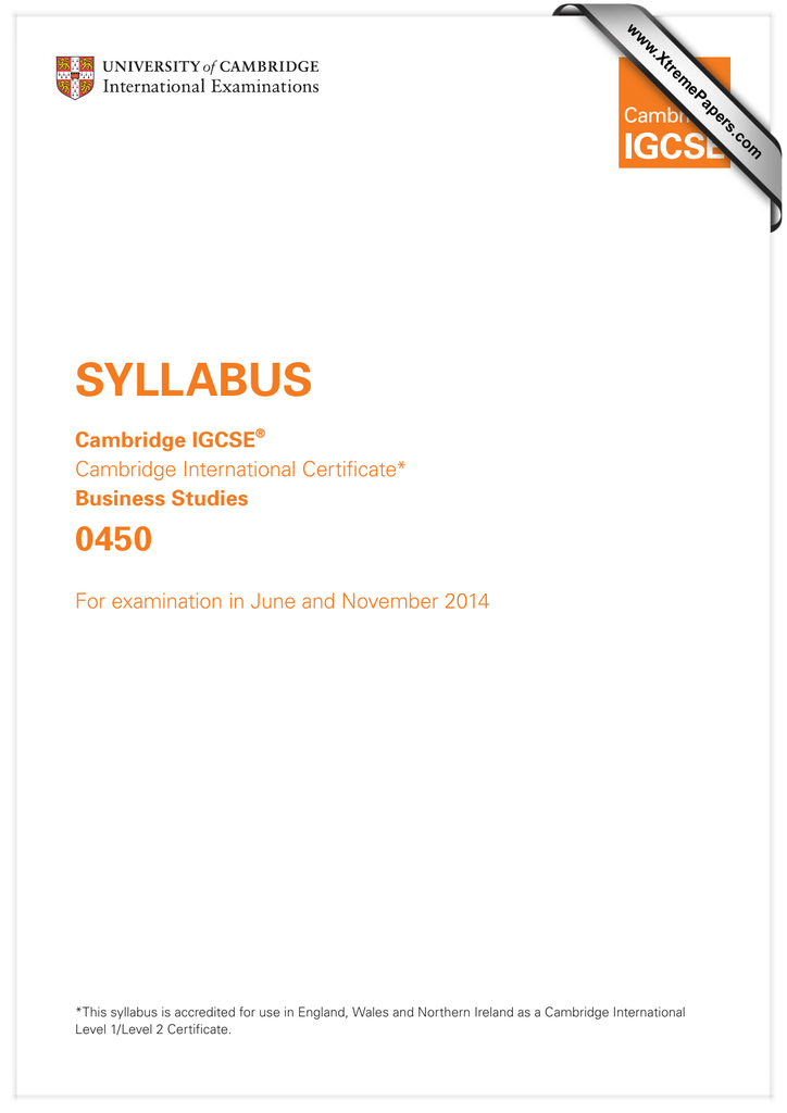Syllabus 0450 cambridge igcse business studies fandeluxe Choice Image