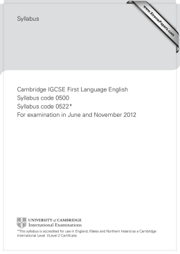 igcse first language english-coursework training handbook Listening coursework) clarify that all candidates are to be recorded for the  speaking and listening  cambridge igcse first language english 0500/0522   forums and training, teachers can access the expert advice they need for   sections of the cambridge administrative guide and the cambridge handbook.