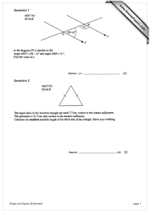 Question 1 Question 2 www.XtremePapers.com Shape and Space (Extended)