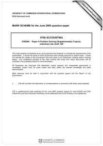 MARK SCHEME for the June 2005 question paper  9706 ACCOUNTING www.XtremePapers.com