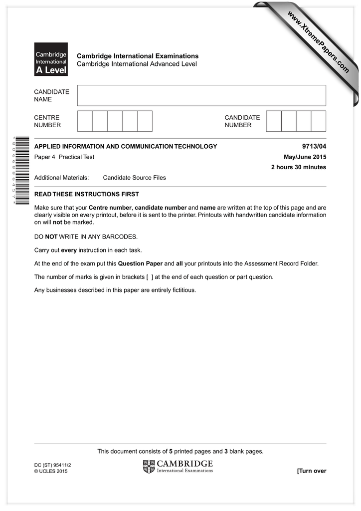 XtremePapers Cambridge International Examinations 9713 04 Advanced Level
