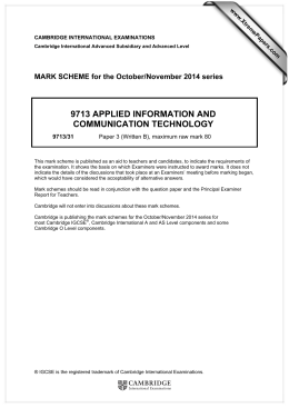 9713 APPLIED INFORMATION AND COMMUNICATION TECHNOLOGY