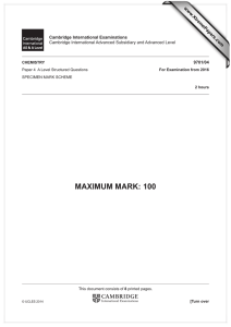 MAXIMUM MARK: 100 www.XtremePapers.com Cambridge International Examinations 9701/04