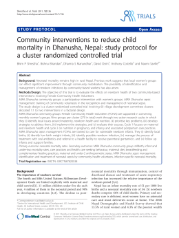 Community interventions to reduce child a cluster randomized controlled trial