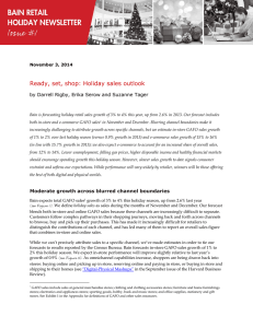Ready, set, shop: Holiday sales outlook