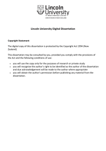 Lincoln University Digital Dissertation