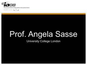 Prof. Angela Sasse University College London