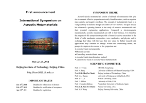 First announcement  SYMPOSIUM THEME
