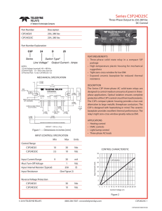 20a//230vac 30ma Semiconductor relay CELDUC sf546310 Coil performance: 3...