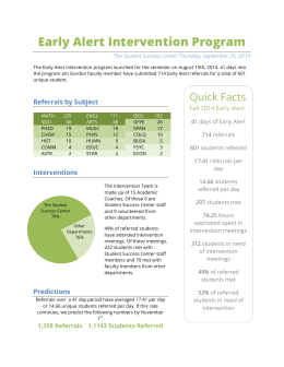 Early Alert Intervention Program