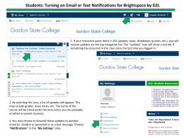 Students: Turning on Email or Text Notifications for Brightspace by...