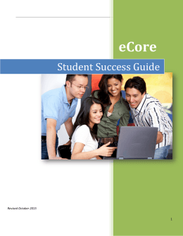eCore Student Success Guide •  Introduction
