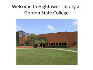 Welcome to Hightower Library at Gordon State College