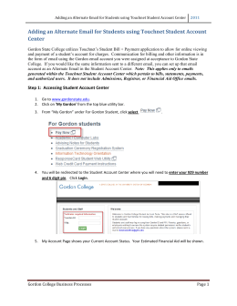 Adding	an	Alternate	Email	for	Students	using	Touchnet	Student	Account Center