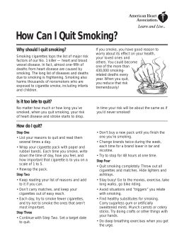 How Can I Quit Smoking? Why should I quit smoking?
