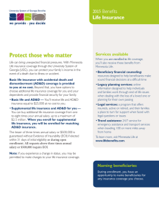 Protect those who matter 2015 Benefits Life Insurance Services available