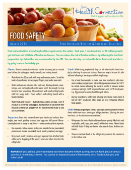 FOOD SAFETY A 2 0 1 3 F