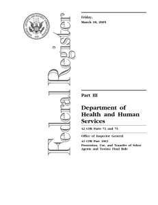Department of Health and Human Services Part III