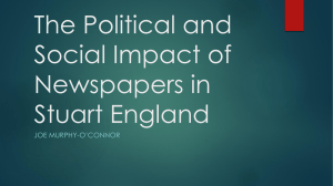 The Political and Social Impact of Newspapers in Stuart England