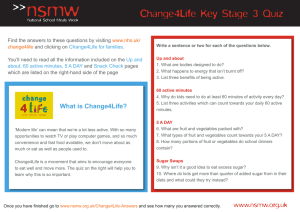 Change4Life Key Stage 3