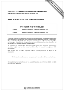 MARK SCHEME for the June 2004 question papers  www.XtremePapers.com