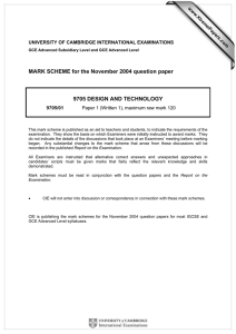 MARK SCHEME for the November 2004 question paper  www.XtremePapers.com