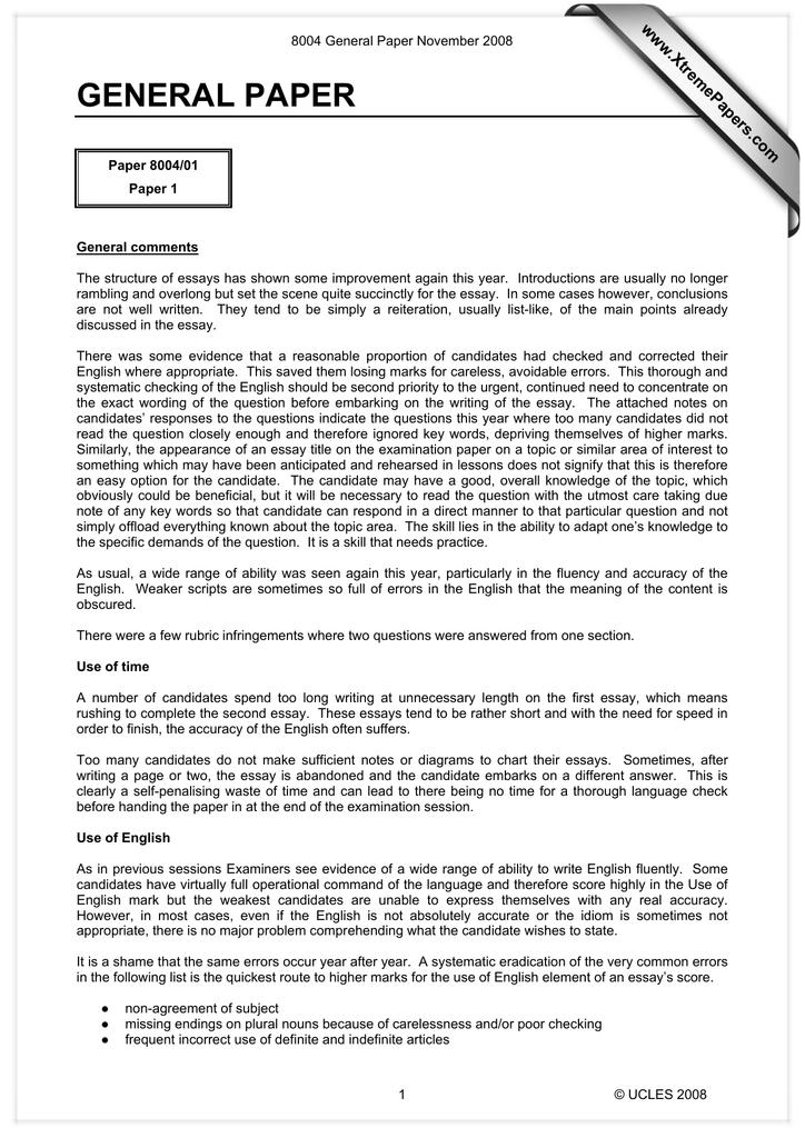 Topics For English Essays  Apa Style Essay Paper also Narrative Essay Topics For High School Students General Paper Wwwxtremepaperscom Essay English Example