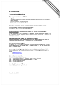 www.XtremePapers.com A Level Law (9084) Frequently Asked Questions