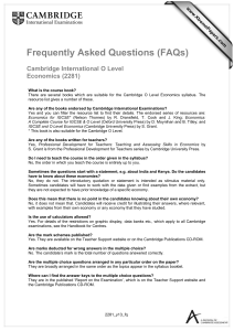 Frequently Asked Questions (FAQs)  Cambridge International O Level Economics (2281)