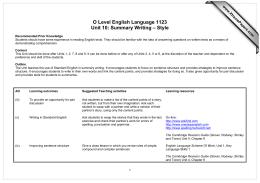 O level english language 1123 unit 10 summary writing style o level english language 1123 unit 10 summary writing style xtremepapers thecheapjerseys Images