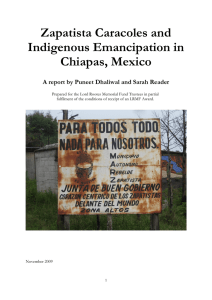 Zapatista Caracoles and Indigenous Emancipation in Chiapas, Mexico