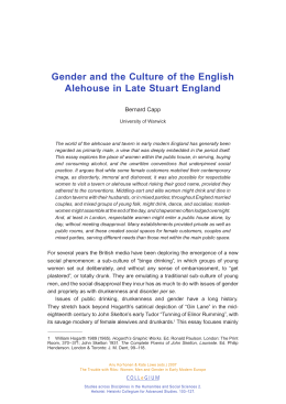 Gender and the Culture of the English Bernard Capp