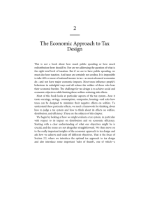 2  The Economic Approach to Tax Design