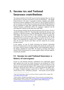 5.  Income tax and National Insurance contributions