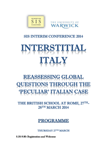 INTERSTITIAL ITALY  REASSESSING GLOBAL