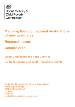 Mapping the occupational destinations of new graduates Research report October 2013*
