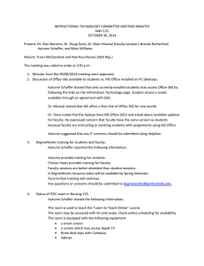 INSTRUCTIONAL TECHNOLOGY COMMITTEE MEETING MINUTES NAH 125 OCTOBER 30, 2014
