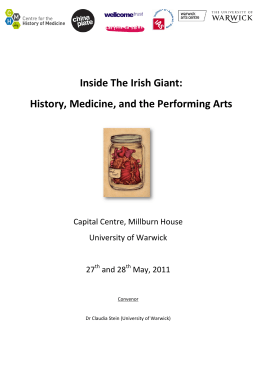 Inside The Irish Giant: History, Medicine, and the Performing Arts