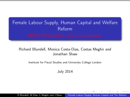 Female Labour Supply, Human Capital and Welfare Reform