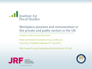 Workplace pensions and remuneration in