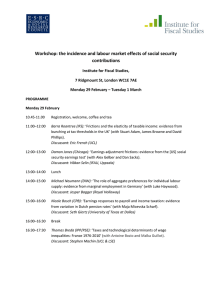 Workshop: the incidence and labour market effects of social security contributions