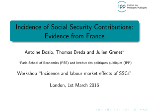 Incidence of Social Security Contributions: Evidence from France